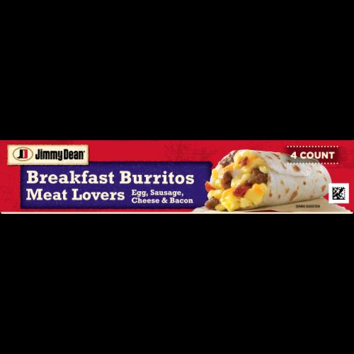 Jimmy Dean Meat Lovers Breakfast Burritos Perspective: bottom