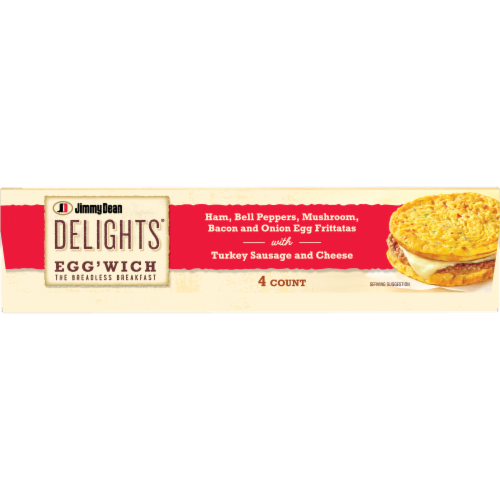 Jimmy Dean Delights® Ham Peppers & Mushroom Egg'wich Perspective: bottom