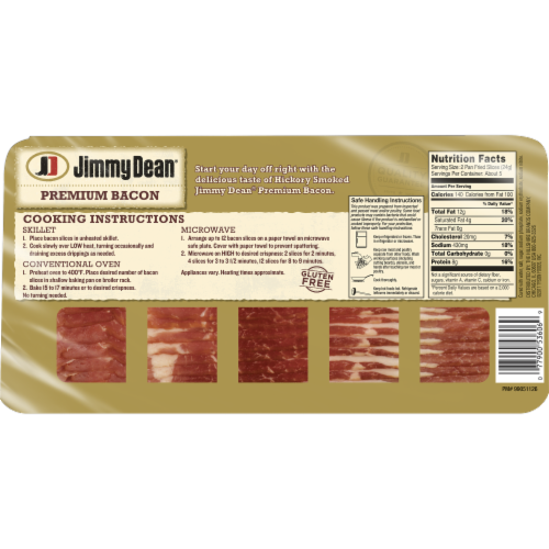 Jimmy Dean Premium Hickory Smoked Bacon Perspective: bottom