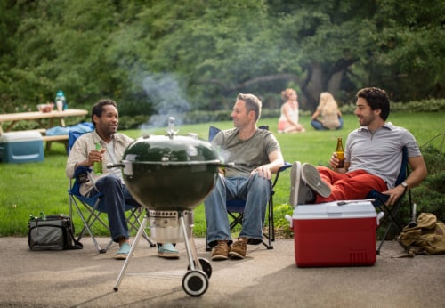 "Weber® Original Kettle™ Premium 22"" Charcoal Grill - Green Perspective: bottom"