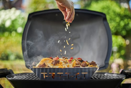 Weber Q 1200 Portable Gas Grill - Green Perspective: bottom