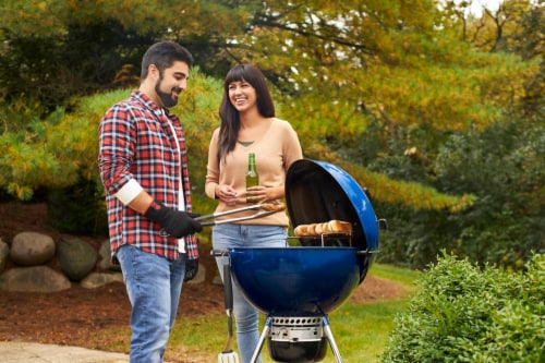 Weber Master-Touch Charcoal Grill - Deep Ocean Blue Perspective: bottom