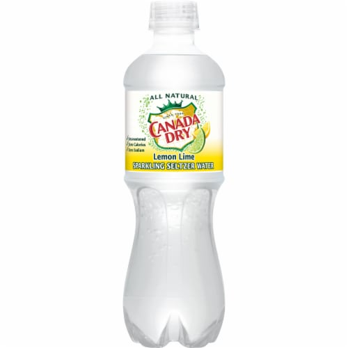 Canada Dry Sparkling Lemon Lime Seltzer Water Perspective: bottom