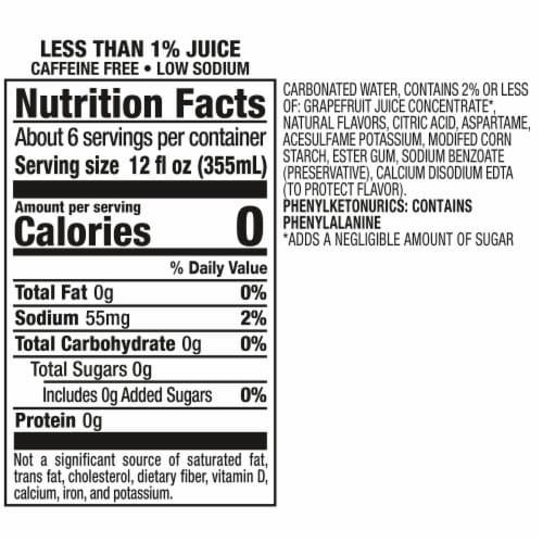 Squirt Zero Sugar Grapefruit Soda Perspective: bottom