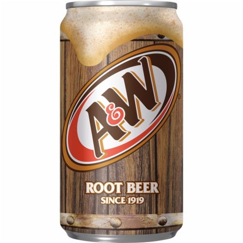 A&W Mini Root Beer Soda Perspective: bottom