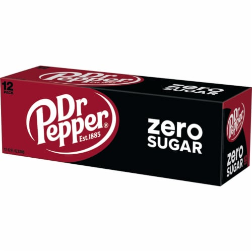 Dr Pepper Zero Sugar Soda Perspective: bottom