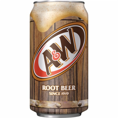 A&W Root Beer Soda Perspective: bottom