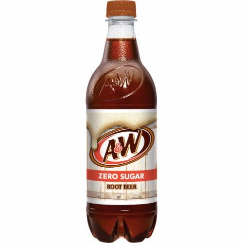 A&W Root Beer Zero Sugar Soda Perspective: bottom