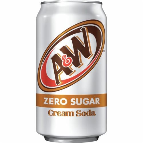 A&W Cream Zero Sugar Soda Perspective: bottom