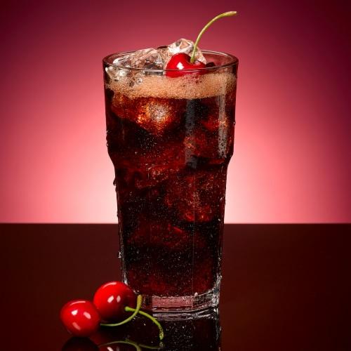 Dr Pepper Diet Cherry Soda Perspective: bottom