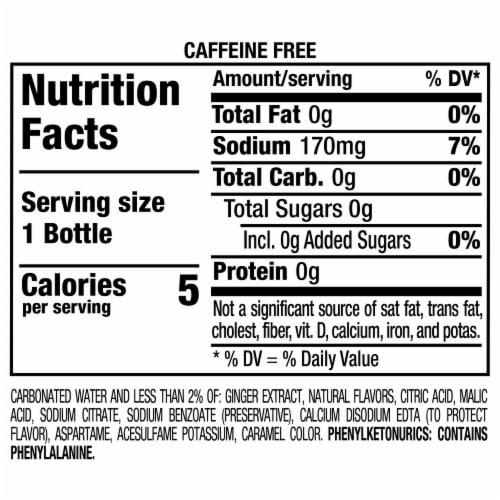 Canada Dry Zero Sugar Ginger Ale Soda Perspective: bottom