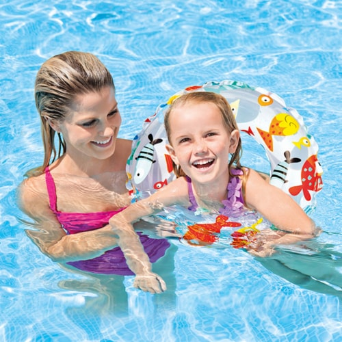 Intex 20-Inch Lively Ocean Friends Inflatable Kids Swim Ring Tube  Pool Float Perspective: bottom