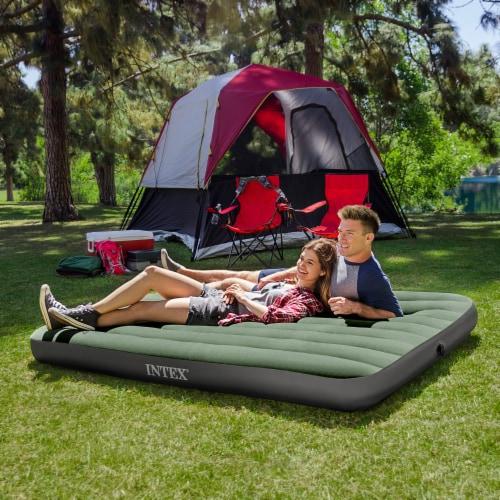 Intex 64722WL Durabeam Expedition Inflatable Air Mattress Air Bed w/ Pump, Full Perspective: bottom