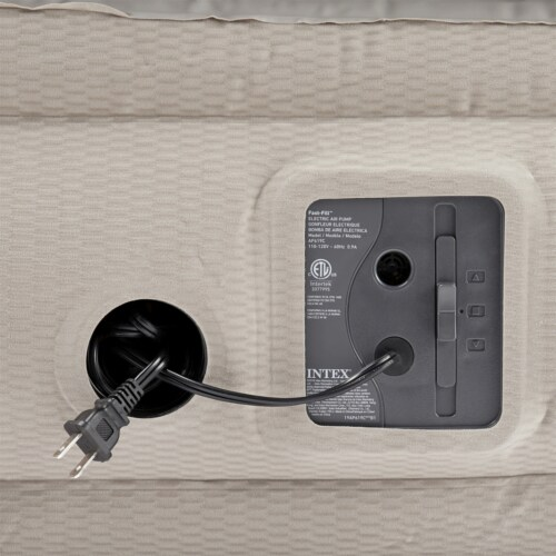 Intex 64443EP Prime Comfort Gray Elevated Air Mattress with Built-In Pump, Twin Perspective: bottom