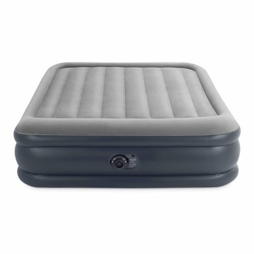 Intex Dura Beam Deluxe Pillow Raised Airbed Mattress with Built In Pump, Queen Perspective: bottom