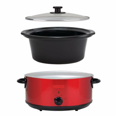Nesco Stainless Steel Analog Slow Cooker - Red Perspective: bottom