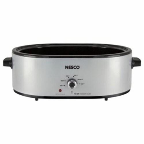 Nesco Porcelain Roaster - Silver Perspective: bottom