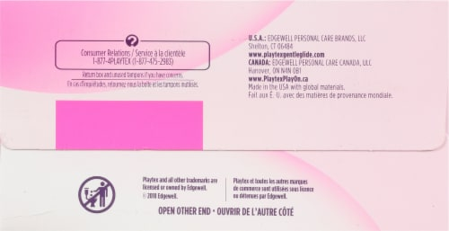 Playtex Simply Gentle Glide Regular and Super Tampons Perspective: bottom