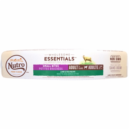 Nutro Wholesome Essentials Small Bites Lamb & Rice Recipe Dry Adult Dog Food Perspective: bottom