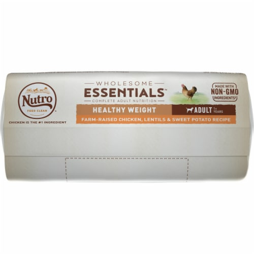 Nutro Wholesome Essentials Healthy Weight Chicken Lentils & Sweet Potato Adult Dog Food Perspective: bottom