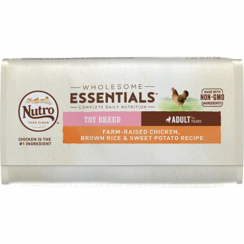 Nutro Wholesome Essentials Chicken Brown Rice & Sweet Potato Recipe Dog Food Perspective: bottom
