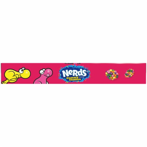 Nerds Rainbow Gummy Clusters Theater Box Perspective: bottom