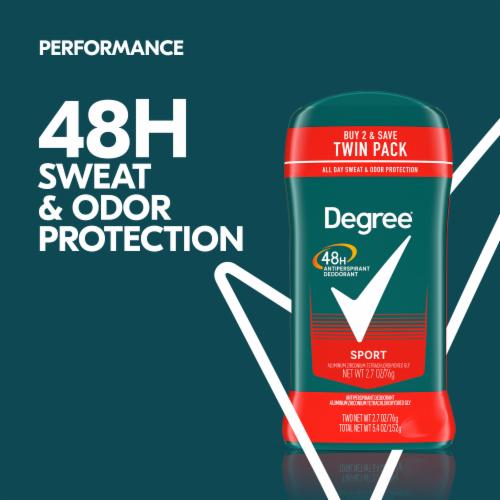 Degree Men Sport 48H Antiperspirant Deodorant Twin Pack Perspective: bottom