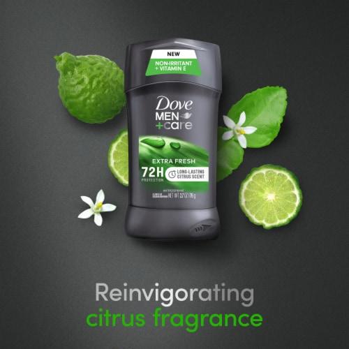 Dove Men+Care Extra Fresh Antiperspirant Deodorant Stick Twin Pack Perspective: bottom