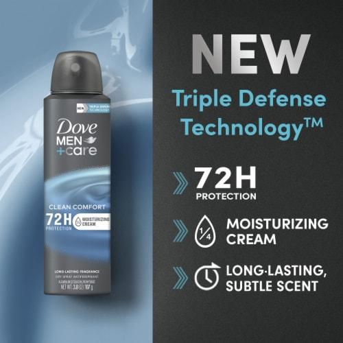 Dove Men+Care Clean Comfort Antiperspirant Deodorant Dry Spray Perspective: bottom