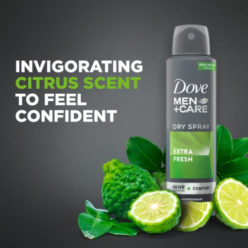 Dove Men+Care Extra Fresh Antiperspirant Dry Spray Perspective: bottom