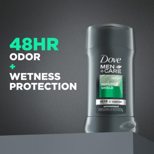 Dove Men+Care Sensitive Shield Invisible Solid Antiperspirant / Deodorant Stick Perspective: bottom