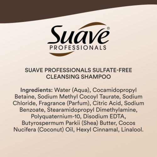 Suave® Professionals Sulfate-Free Shea Butter & Coconut Oil Shampoo for Curly Hair Perspective: bottom