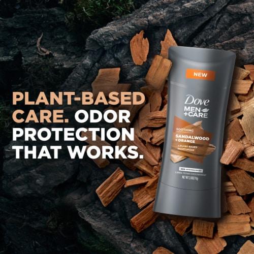 Dove Men+Care Sandalwood + Orange Antiperspirant Deodorant Stick Perspective: bottom