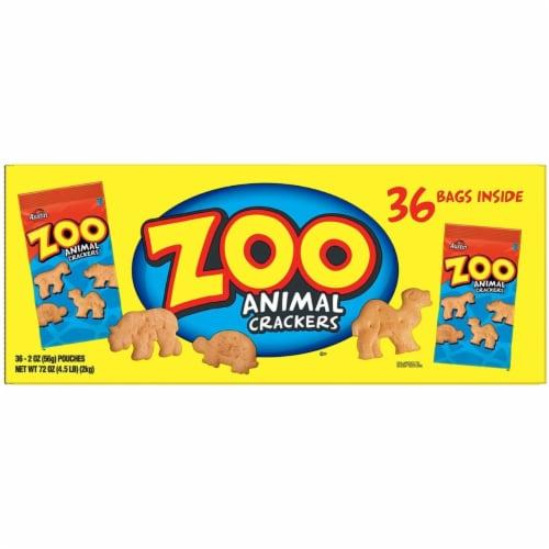 Zoo Animal Crackers, Original, 2 oz Pack, 36 Packs/Box 827545 Perspective: bottom
