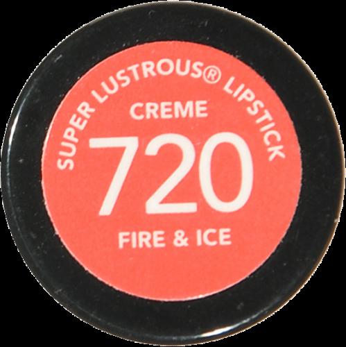 Revlon Super Lustrous 720 Fire & Ice Creme Lipstick Perspective: bottom