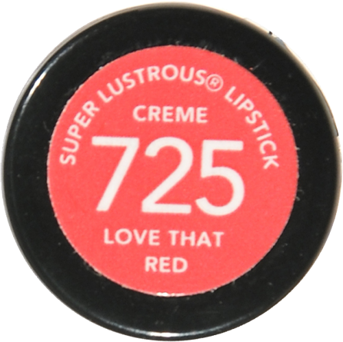 Revlon Super Lustrous Love That Red Creme Lipstick Perspective: bottom