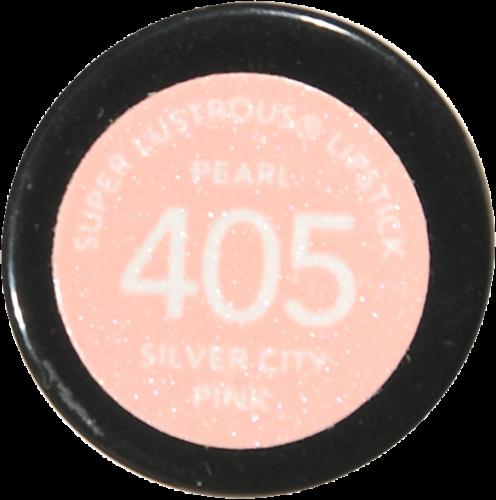 Revlon Super Lustrous Silver City Pink Pearl Lipstick Perspective: bottom