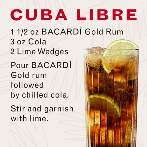 Bacardi Gold Dark Rum Perspective: bottom