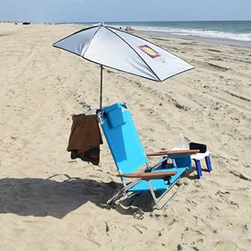 Rio Beach Total Sun Block Clamp On Adjustable Umbrella for Beach & Lounge Chairs Perspective: bottom
