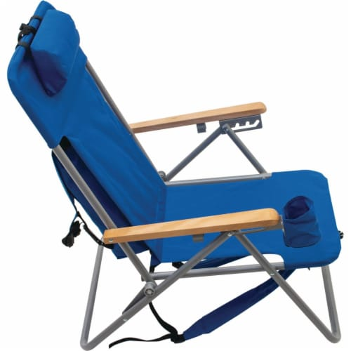 Rio Brands Blue Canvas Backpack Folding Chair SC527-28PK6 Perspective: bottom