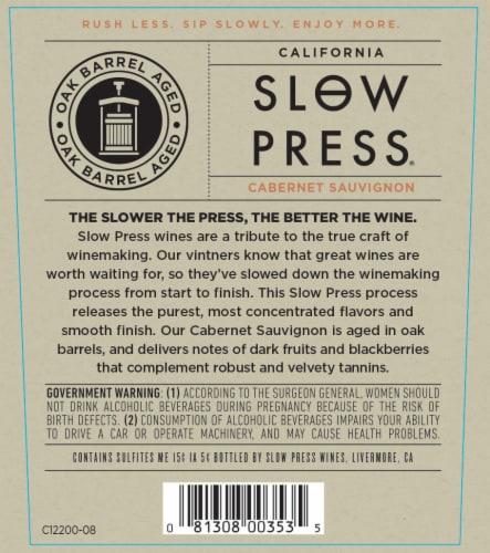 Slow Press Cabernet Sauvignon Red Wine Perspective: bottom