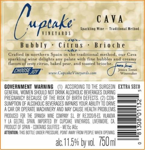 Cupcake Vineyards Cava Sparkling Wine Perspective: bottom