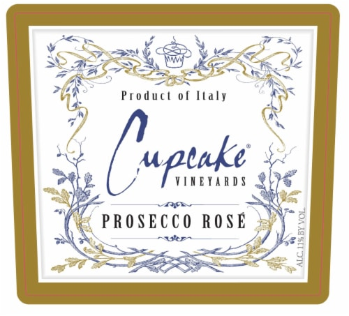 Cupcake Vineyards Prosecco Rose Wine Perspective: bottom