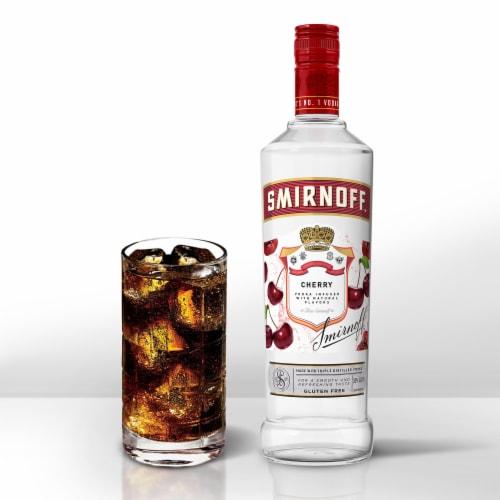 Smirnoff Cherry Vodka Perspective: bottom
