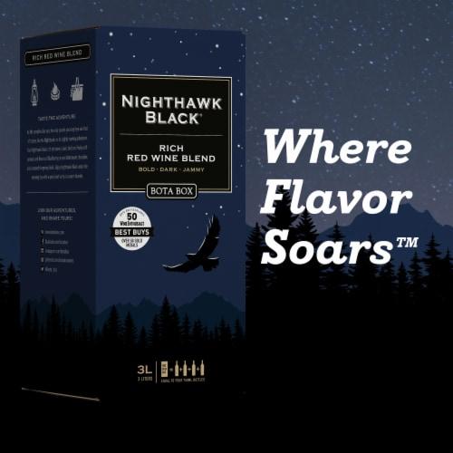 Bota Box Nighthawk Black Rich Red Wine Blend Perspective: bottom