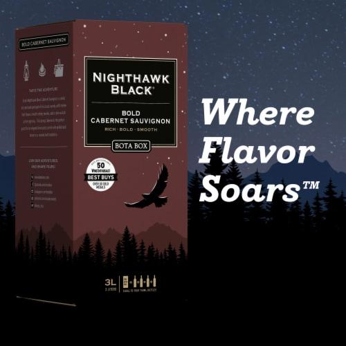 Bota Box Nighthawk Black® Bold Cabernet Sauvignon California Red Wine Perspective: bottom