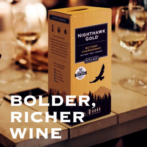 Bota Box Nighthawk Gold® Buttery Chardonnay California White Wine Perspective: bottom