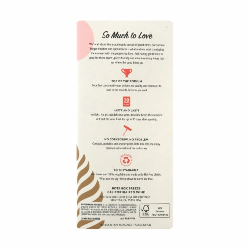 Bota Box Breeze Red Blend Red Wine Perspective: bottom