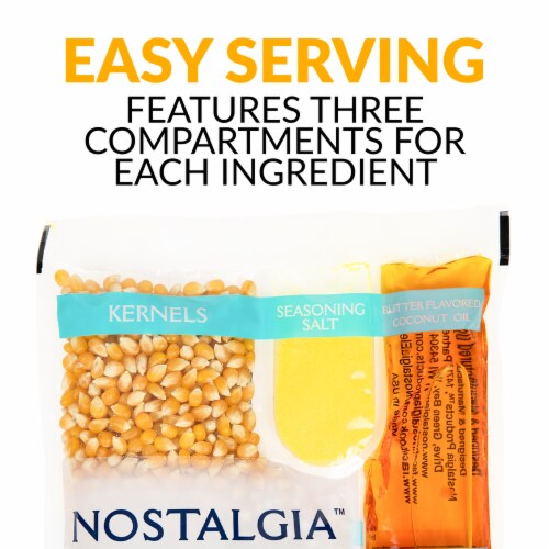 Nostalgia Popcorn Oil & Seasoning Salt All-In-One Packs Perspective: bottom