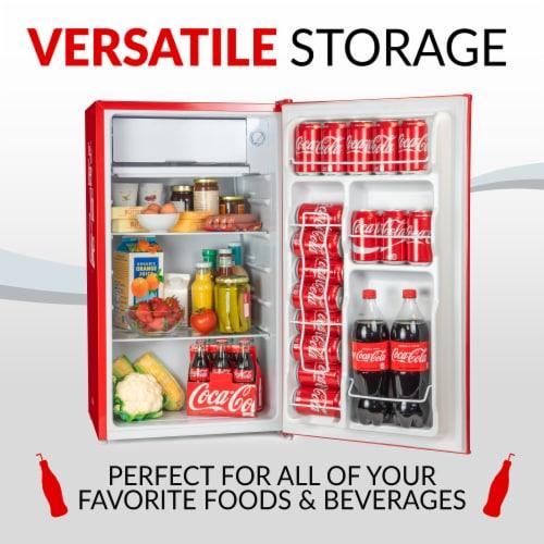 Coca-Cola Refrigerator with Freezer - Red Perspective: bottom